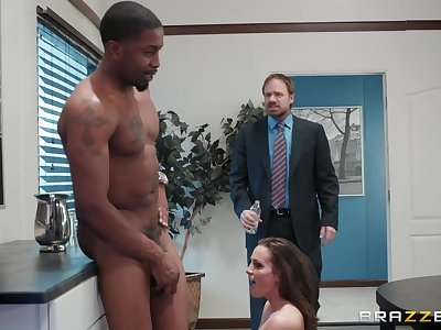 sexy Abigail Mac enjoys hard fuck with her boss in the office