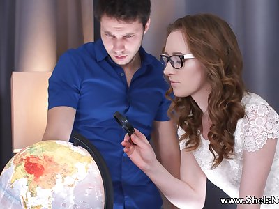 She Is Nerdy - Emma Fantazy - Nerdy travel-loving teen fuck