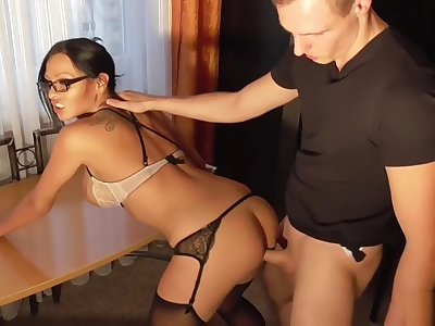 GERMAN MILF BOSS On touching SEXY Unmentionables SEDUCE TEEN WORKER TO ANAL