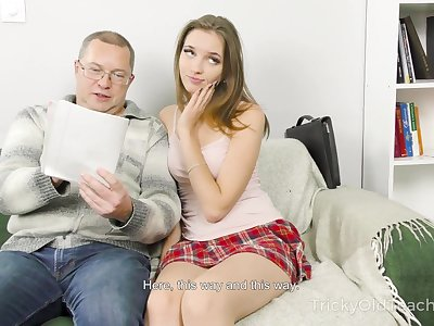 Home tutoring leads to dealings and Mellisandra is one naughty student